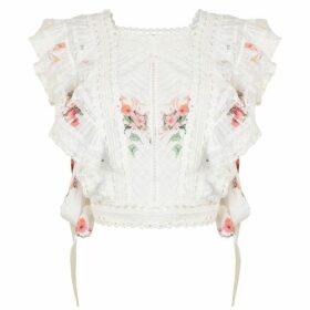 Zimmermann Floral Frill Top