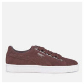 Puma Women's Suede Jewel Metallic Trainers - Peppercorn - UK 8 - Burgundy/Purple