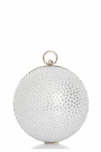 Quiz Silver Shimmer Jewel Sphere Bag