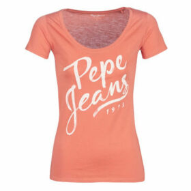 Pepe jeans  ANDREA  women's T shirt in Orange