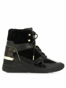 Michael Michael Kors heeled hi-top sneakers - Black