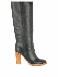 Ports 1961 block heel knee high boots - Black