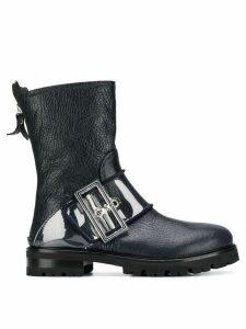 Agl buckled mid-calf boots - Blue