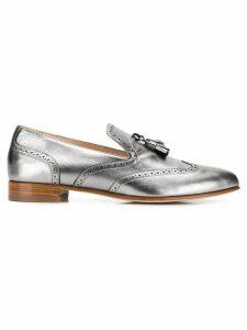 Fabiana Filippi metallic tassel loafers - Silver