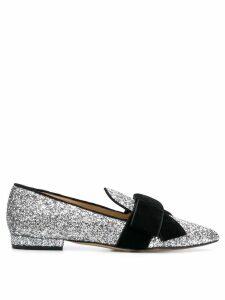 Emanuela Caruso glitter loafers - Silver