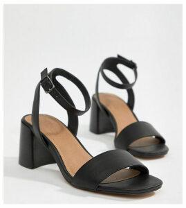 ASOS DESIGN Tyrell Block Heeled Sandals-Black
