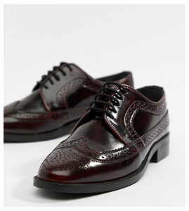 ASOS DESIGN Mai Tai leather brogues-Red