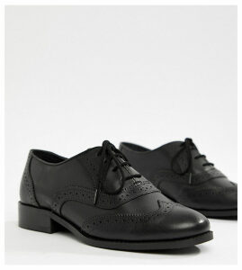 Park Lane Wide Fit Leather Brogue-Black
