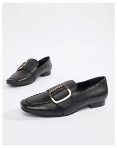 Park Lane leather loafer in black