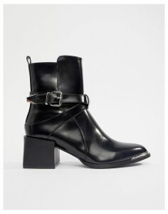 RAID Poppy Black Western Detail Ankle Boots