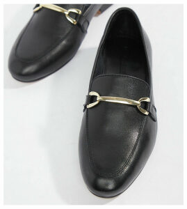 ASOS DESIGN Moment leather loafers-Black