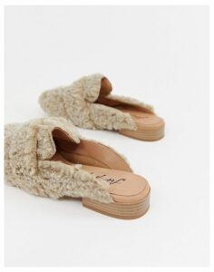 Free People faux shearling at ease loafer-Beige
