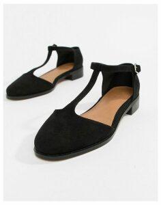 ASOS DESIGN Mira flat shoes-Black