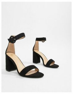 RAID Genna black block heeled sandals