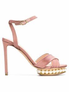 Nicholas Kirkwood Casati pearl platform sandals - Pink