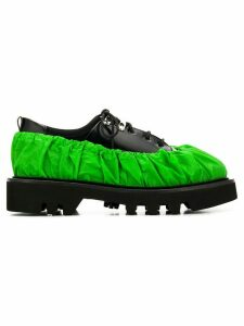 Rombaut contrast lace-up shoes - Green