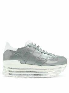 Hogan platform sneakers - Metallic