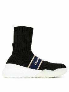 Stella McCartney Loop hi-top sneakers - Black