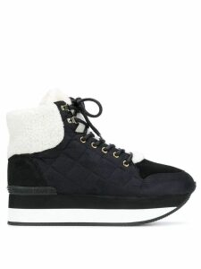 Trussardi Jeans lace-up quilted sneakers - Black