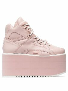 Buffalo pink Classic High Nubuck Flatform sneakers