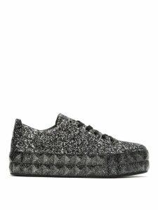 Emporio Armani glitter platform sneakers - Black