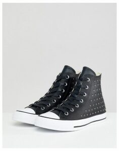 Converse Chuck Taylor All Star leather studded hi trainers in black
