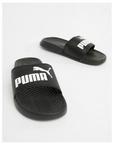 Puma Popcat Black Sliders
