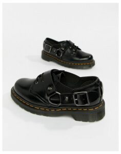 Dr Martens Fulmar Black Leather Harness Flat Shoes