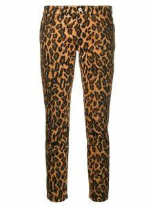 Miu Miu leopard print skinny jeans - Brown