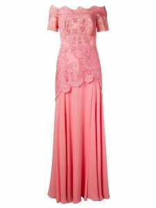 Martha Medeiros off the shoulder lace Patricia gown - PINK