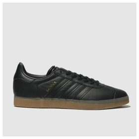Adidas Black Gazelle Gum Trainers