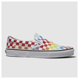 Vans White & Red Classic Slip-on Trainers