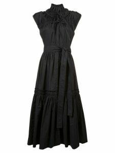 Proenza Schouler Gathered Tiered Dress - Black