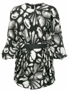 Alexander McQueen seashell printed dress - Black