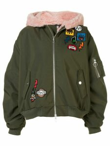 Haculla Aberrant patch bomber jacket - Green
