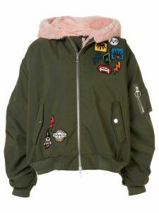 Haculla Aberrant patch bomber jacket - Green