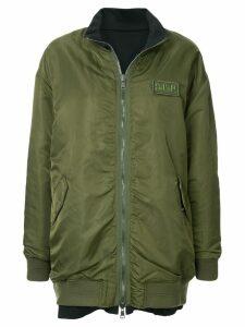 SJYP oversized reversible bomber jacket - Green