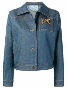 Prada slim fit denim jacket - Blue