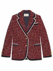 Gucci Geometric tweed jacket - Red