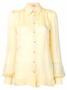 Emilio Pucci Acapulco Piazzato Print Silk Blouse - Yellow