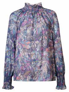 Rebecca Taylor floral print blouse - PURPLE