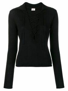 Saint Laurent lace-up blouse - Black