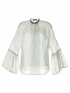 Fabiana Filippi sheer flared sleeves blouse - Grey