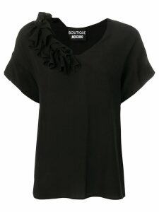 Boutique Moschino frilled blouse - Black