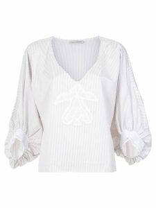 Martha Medeiros striped Gil blouse - White