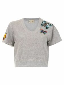 Andrea Bogosian embroidered top - Grey