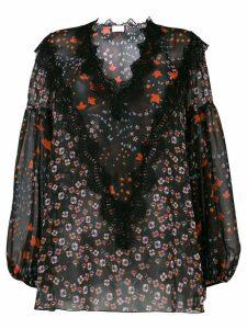 Giamba floral print blouse - Black