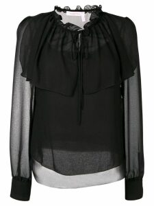 See by Chloé sheer ruffle blouse - Black