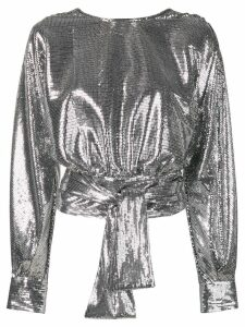 MSGM open back sequined top - SILVER