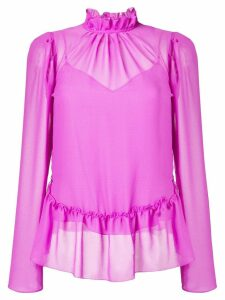 See By Chloé ruffled sheer blouse - PURPLE